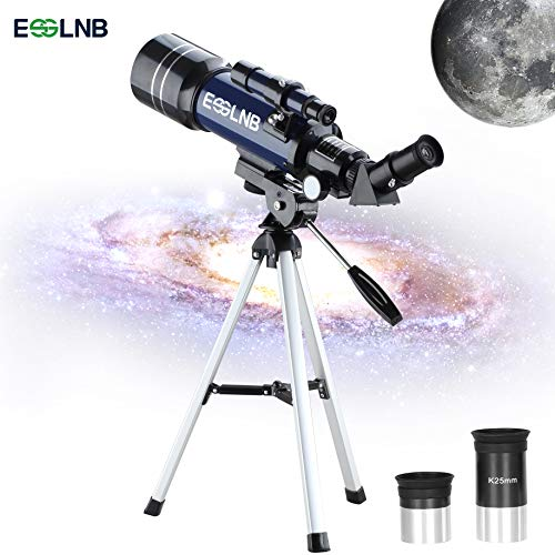 ESSLNB Telescope for Kids 70mm Telescopes for Astronomy Beginners with Tripod FMC Astronomical Telescopes for Adults