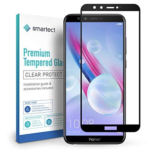 smartect Panzerglas kompatibel mit Huawei Honor 9 Lite/Youth Edition [Full Screen] - Bildschirmschutz mit 9H Festigkeit - Panzerglas bedeckt ganzes Bildschirm komplett Full Cover