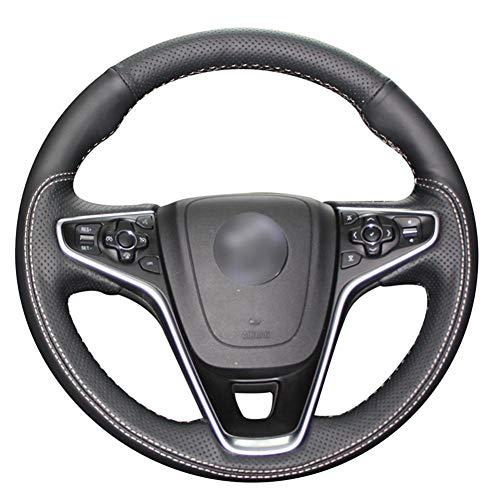 DIUxcj Funda para Volante de Coche decoración de Cuero Cosida a Mano para Coche, para Opel Insignia 2014-2017 Vauxhall Insignia 2015