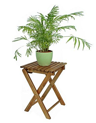 TACOMA Klapphocker, Blumenhocker, Beistelltisch aus Eukalyptusholz 1 Stück