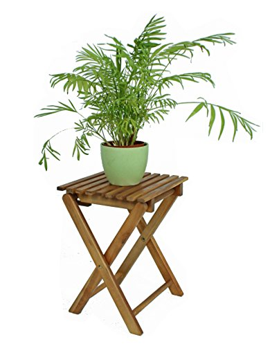 Klapphocker TACOMA Eukalyptus geölt Holz Beistelltisch Klapptisch Hocker Gartentisch NEU