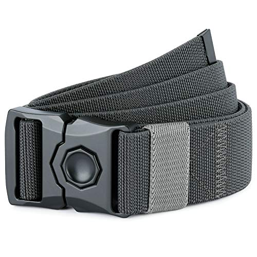 DEYACE Tactical Belt, Quick-Release Alloy Buckle Hunting Safety Harnesses Belts, Men's 1.5 Inches Rigger Non-Slip Belt