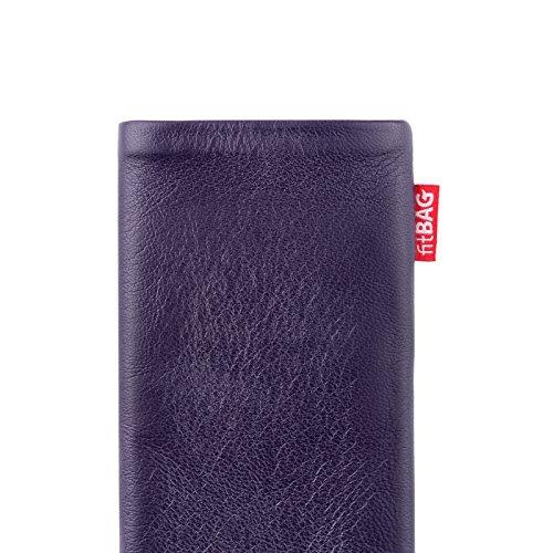 fitBAG Beat Lila Handytasche Tasche aus Echtleder Nappa mit Microfaserinnenfutter für Huawei Ascend Mate 2   Hülle mit Reinigungsfunktion   Made in Germany - 4