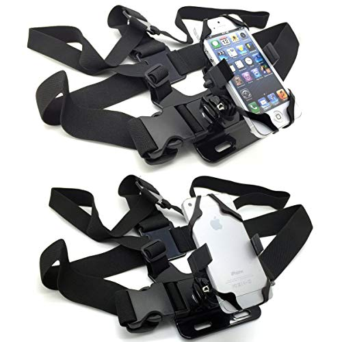 ChargerCity 360° Adjust Live Video Streaming Camera Chest Mount for Mobile Phone with Harness Strap Smartphone Holder GoPro Action Camera POV for Samsung S20 S21 iPhone 12 11 PRO SE XR XS