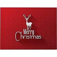 プレースマットクリスマスプレースマットクッションパターンプレースマットテーブルマット防水滑り止め耐熱プレースマットクリスマスデコレーション用4pcs,K