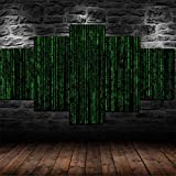ZYJHD Matrix Background Movie 5 Piece Print Canvas,Artwork