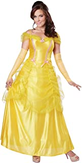 Classic Beauty Yellow Dress Adult Costume