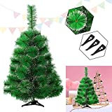 HENGMEI 210cm Sapin de Noël Artificiel Pin Arbre de Noel avec support en métal Xmas Party Decortaion, Neigeux