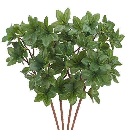 NAHUAA 4pcs Piante Artificiali Piante Finte Verde Arbusti in Plastica Esterno Interno per la Decorazione Domestica Cucina Balcone Giardino Ufficio Soggiorno