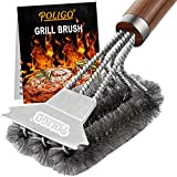 POLIGO 18' BBQ Brush for Grill Cleaning Safe Grill Brush and Scraper with Deluxe Handle - Grill...