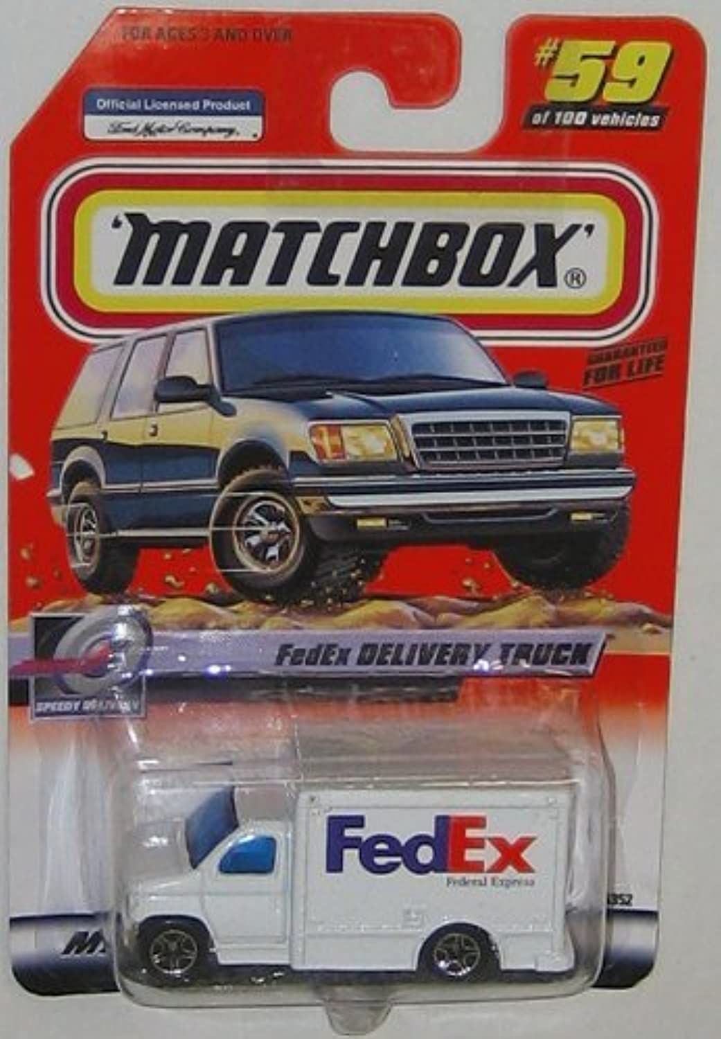 2000 MATCHBOX SPEEDY DELIVERY 59 OF 100 FEDEX DELIVERY TRUCK by Matchbox