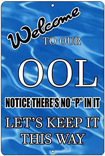 """""""N/A"""" Aluminiumschild Schwimmbad Schild Metall Aluminium Schild No Pee in Pool Ool Swim 30 x 45 cm"""