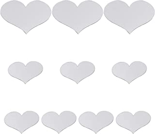 CLISPEED 20PCS Heart Shaped Acrylic Mirror Stickers Modern Acrylic Wall Stickers DIY Murals Wall Decals for Home Bedroom L...