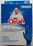 MR. CLEAN Latex Free & Powder Free Nitrile Disposable Cleaning Gloves Durable Solvent Resistant (1)