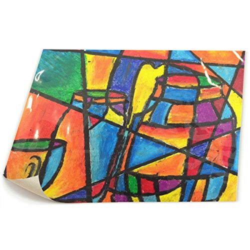 Paint C Kunstwerk-Gemälde, Rahmenlos, Kubismus, Stillleben, Leinwandbild, Dekoration für Zuhause, Wohnzimmer, Schlafzimmer, 56 x 47 cm