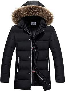 Winter Coat,Aurorax Waterproof Thickening Faux Fur Lined Hooded Jacket Parka M-3XL