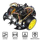 Electronic Smart Car DIY Project Beginner Kit Base with Tutorial Principle & Program Education Robot Car