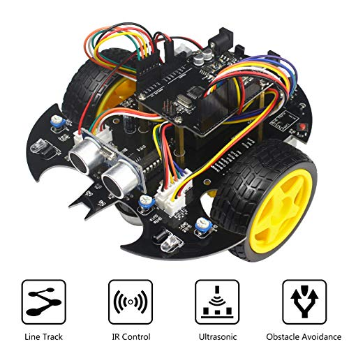 Electronic Robot Toy Car Project Starter Kit Base on Arduino UNO R3, with Tutorial Principle & Program Education Robotics Toy
