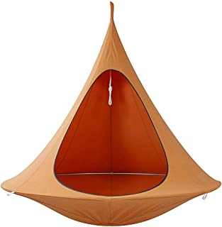 Kids Adults Camping Teepee Tree Silkworm Cocoon Swing Hanging Chair Indoor Outdoor Hammock Tent Patio 150x150cm