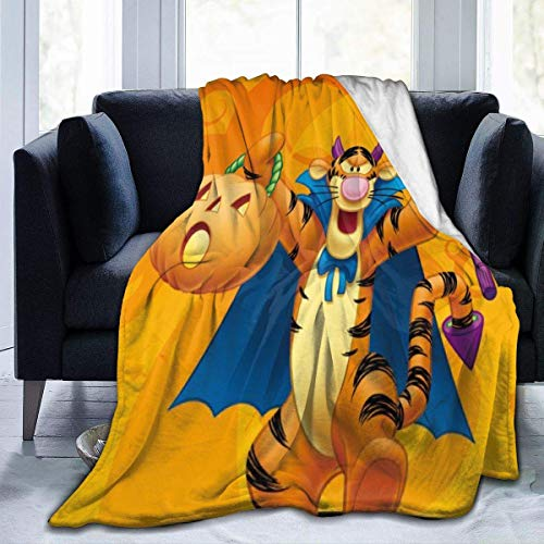 Meloci Halloween Winnie The Pooh Tigger Flanelldecke Superweiche Und Bequeme Plüschdecke Aus Mikrofaser