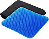 Bulfyss Medical Grade Gel Double-Sided Honeycomb Design Breathable, Durable, Portable Cushion Seat Pad -Helps in Relieving Back, Spine and Hips Pain (Blue)