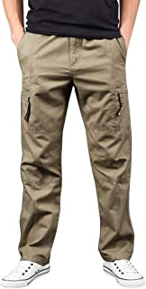 Vicbovo Clearance Mens Relaxed Fit Straight Leg Cargo Pant Stretchy Outdoor Lightweight Hiking Fishing Work Pants Trousers