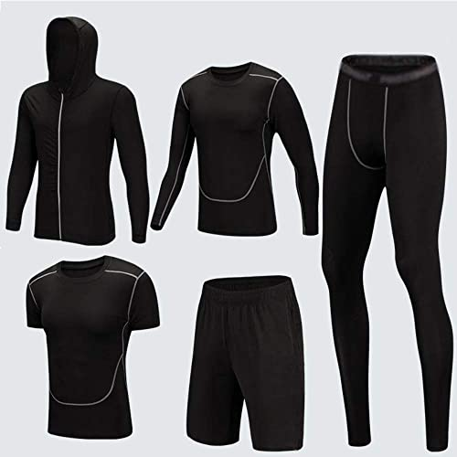 ZJBSW Vêtements De Sport Ensembles De Running pour Hommes à Séchage Rapide Compression Tights Gym Fitness Jogging Sportswear