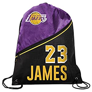 NBA Los Angeles Lakers LeBron James #23 Drawstring Backpack, Los Angeles Lakers, One Size