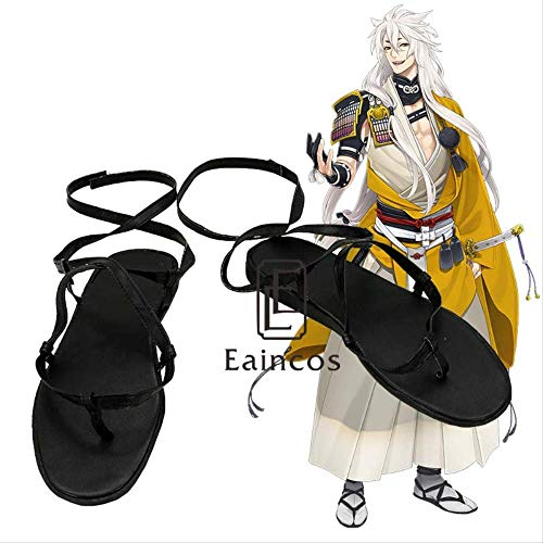 WSJDE Touken Ranbu Online Kogitsunemaru Cosplay Schuhe Schwarze Sandalen nach Maß