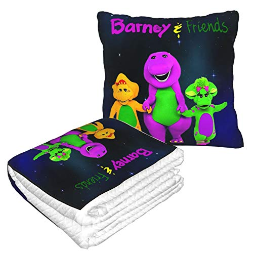 Ktdbthut Barney & Friends Super Soft Travel Blanket Throw Pillow Throw Pillowairplane Blanket Warm Quilt for Rest