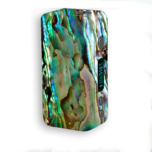 Skin Decal Vinyl Wrap for Smok Kooper Plus 200W Vape Mod Skins Stickers Cover / Abalone Sea Shell Gold Blues Beautiful