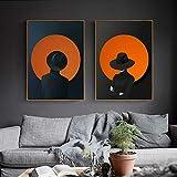 Pintura Decorativa geométrica Moderna Sala de Estar Pintura nórdica Personalidad Pintura Abstracta del pórtico Mural del Hotel A 50 * 70cm