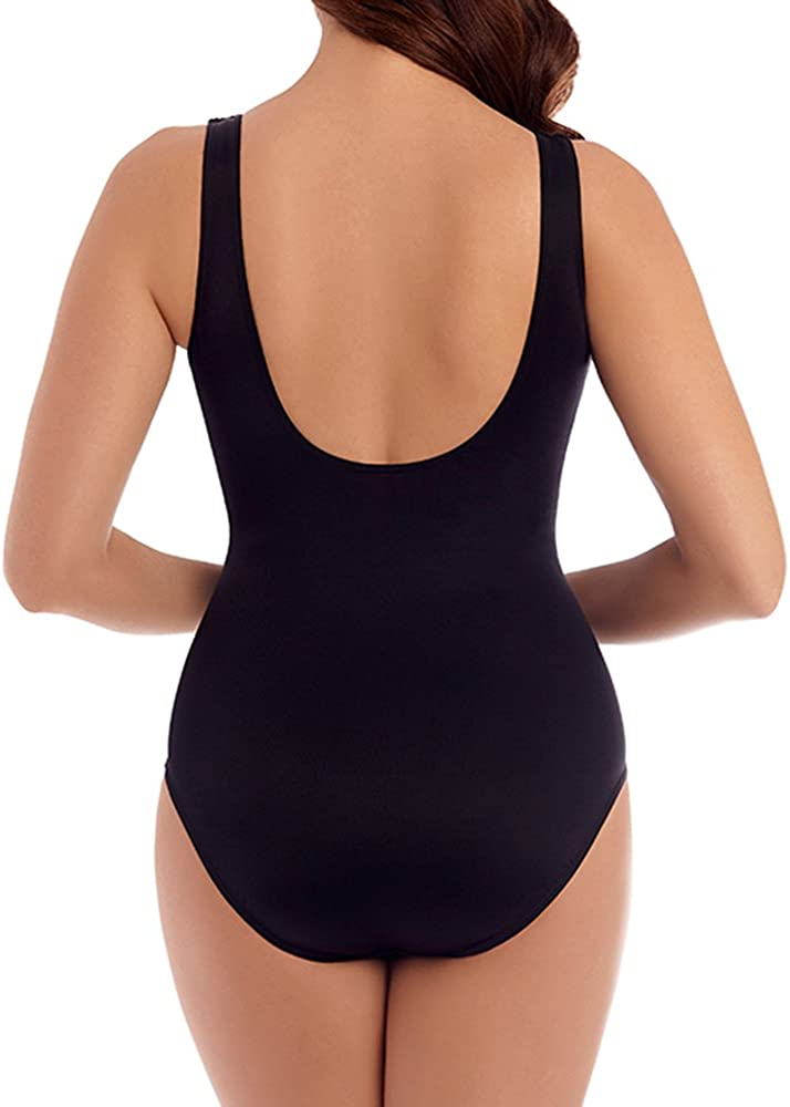 Miraclesuit Womens Revele Rock Solid Firm Control Swimsuit