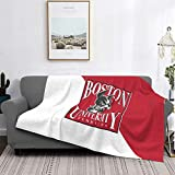 Boston University Terriers University Flannel Blanket Super Soft Cozy Luxury Couch Home Decor Warm Anti-Pilling Fleece Throw Blanket for Couch Bed Sofa 60'X50'