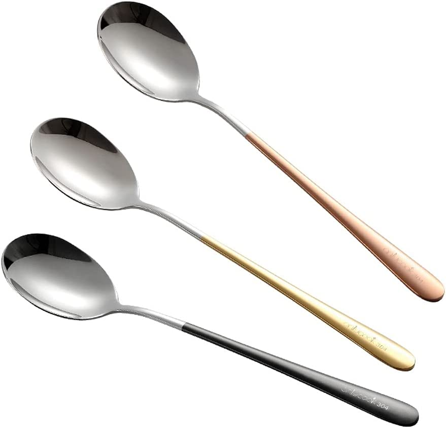 Soup Spoons Tea Household Stainless Rapid rise Steel Spoon Sp Dining Max 59% OFF