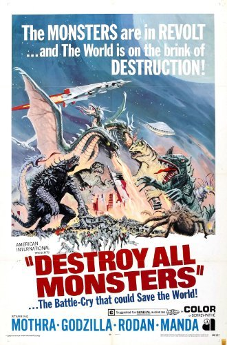 Movie Poster Destroy All Monsters - Kaijû sôshingeki (Charge of The Monsters) Godzilla/Gojira (1968) American 24x36