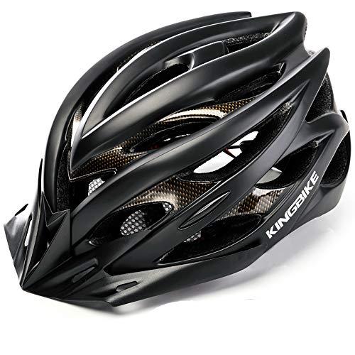 KING BIKE Fahrradhelm Helm Bike Fahrrad Radhelm mit LED Licht FüR Herren Damen Helmet Auf Die Helme Sportartikel Fahrradhelme