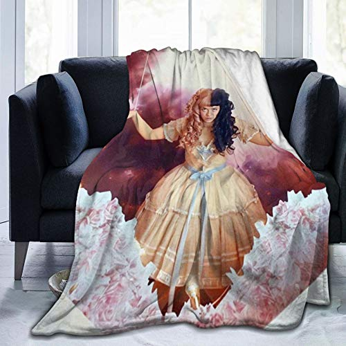 Me-la-nie Mar-tinez Ultra-Soft Micro Fleece Blanket Throw Blanket Flannel Blankets for Bed Sofa Couch Camp, 60x50 in