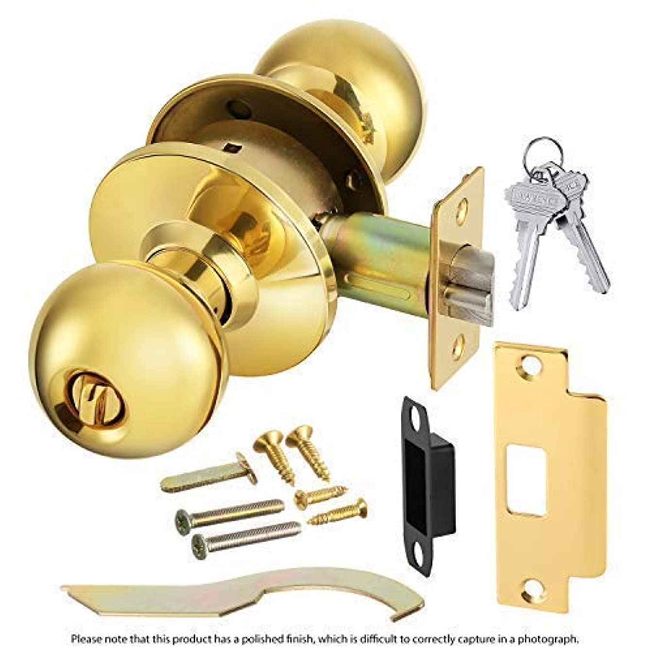 Commercial Grade 2 Keyed Entrance Door Knob with Cylindrical Lockset, 2 3/4