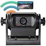 RED WOLF Phone Wireless WiFi Trailer Hitch RV Backup Camera Compatible with iPhone Android iPad Gooseneck Horse Campers Motorhomes,Trucks,Fifth Wheel Blind Spot Magnetic Mount Camera Battery Charge