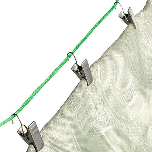 Bazaar 20pcs metalen douchegordijn poltangen multifunctioneel venster gordijn ringen pincer gordijnen clips