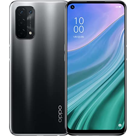 OPPO A54 5G 【日本正規代理店品】 シルバーブラック SIMフリー版 Android simfree スマホ 本体 急速充電 長持ちバッテリー 大画面 スマートフォン シムフリー Android11 高性能カメラ