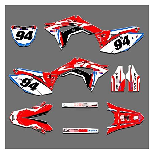 Lhtyouting HM3074-3083 Etiquetas de calcomanías de Motocicleta 3M Pegatinas Gráficos Gráficos Kit de decancia gráfica para Honda 450R 2017 2018 2019 2020 zxlyt (Color : 4)