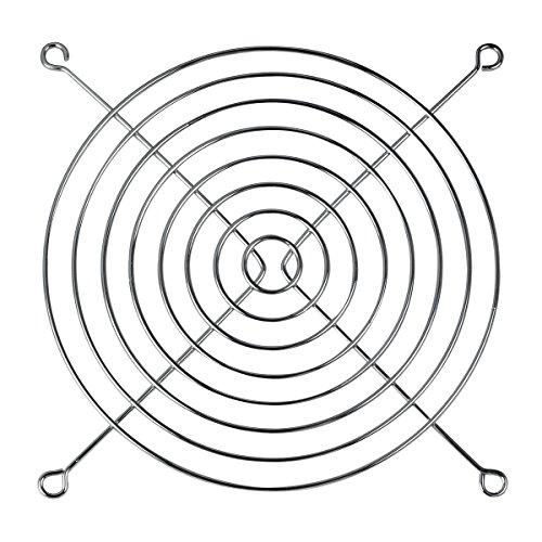 ARCTIC Fan Grill 80 mm - Rejilla externa de protección para ventilador de ordenador, estructura de acero cromado, compatible con ventiladores de 80 mm, resistente - Cromado