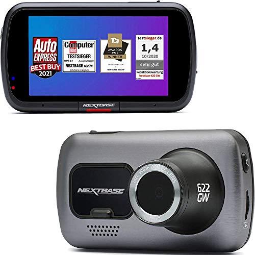 Nextbase 622GW Dash Cam Full 4K 30fps, WiFi, GPS, Bluetooth - Alexa integrato, video HD, telecamera sul cruscotto dell'auto - Registrazione anteriore -140 ° Angolo di visione