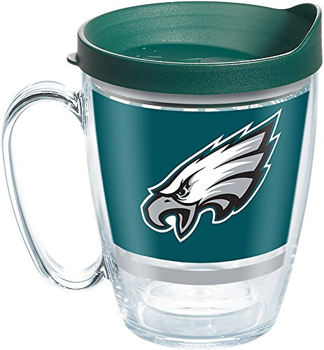 Tervis NFL Philadelphia Eagles Legend Tumbler with Wrap and Hunter Green Lid 16oz Mug, Clear