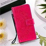 QiuKui - Funda de piel con tapa para Sony Xperia 10 II XA1 XA2 XZ1 XZ2 XZ3 Sony Z3 Z5 L1 con ranuras para tarjetas (color: rojo rosa, material: para Sony XZ2 Mini)