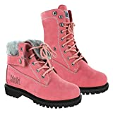 Safety Girl GS008-Pink-ST-7.5M Madison Fold-Down Work Boot - Pink Steel Toe 7.5M, English, Capacity, Volume, Leather, 7.5M, Pink ()