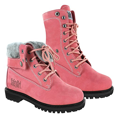 Safety Girl GS008-Pink-ST-8.5M Madison Fold-Down Work Boot - Pink Steel Toe 8.5M, English, Capacity, Volume, Leather, 8.5M, Pink ()