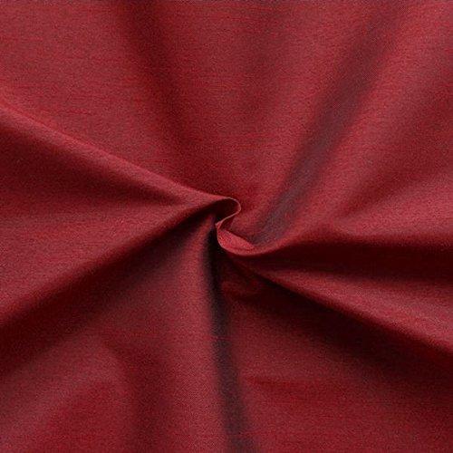 Unbekannt Kleidertaft Dekotaft Dupionseide Optik Meterware Rubin-Rot